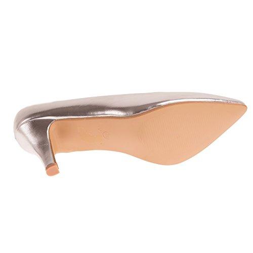 Cuir Pointures Bouts en Femme Simili 6cm Talon Pointus Fin Grandes Argent Petit Escarpins fzAn4wW1