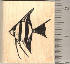 - Freshwater Angelfish Rubber Stamp
