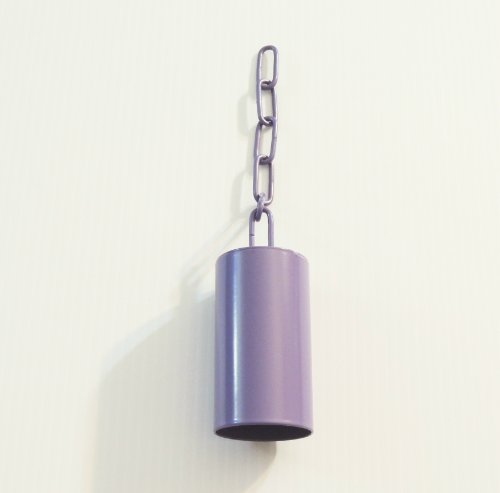 Pipe/safety Bell W/matching Chain Bird Toy Large Purple