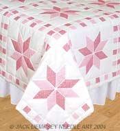 Jack Dempsey Stmpd White Quilt Blocks 18 Inch X18 Inch -xxx Stars (Cotton Quilt Block)