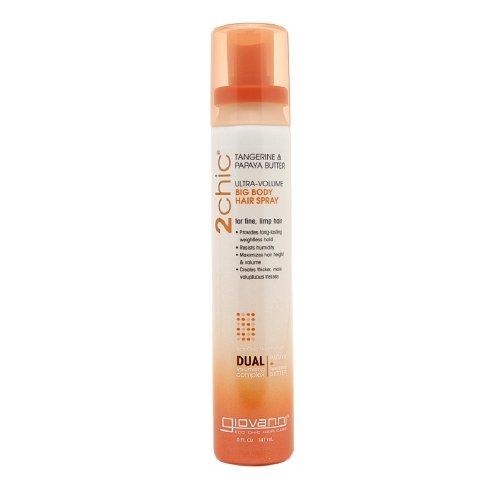 - Giovanni 2chic Tangerine & Papaya Butter Ultra Volume Big Body Hair Spray 5 fl oz (147 ml) (Pack of 12)