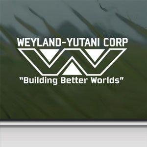 Weyland Yutani White Sticker Decal Aliens Lv-426 Hive White Car Window Wall Macbook Notebook Laptop Sticker Decal