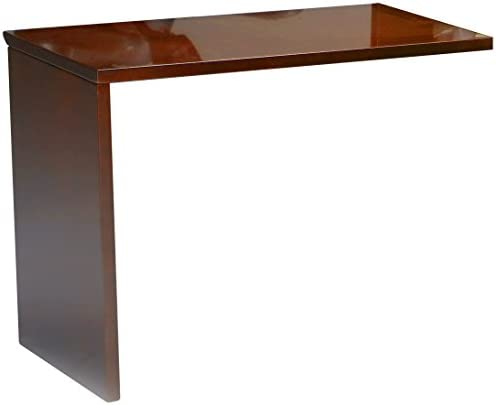 Mayline Napoli Universal ADA Return for Napoli Reception Station, sold separately, Sierra Cherry Veneer