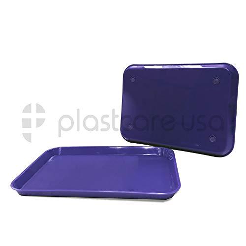 Dental Autoclavable Plastic Instrument Set Up Flat Trays, 13 1/4″ x 9 3/4″, Size B (1, Purple)