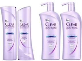 Clear Scalp & Hair Beauty Therapy Total Care Nourishing Shampoo, 21.9 Fluid Ounces
