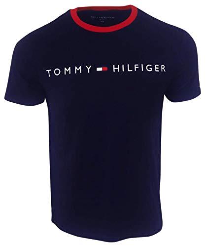 Tommy Hilfiger Men's New Line Crewneck T-Shirt (Medium, Navy)