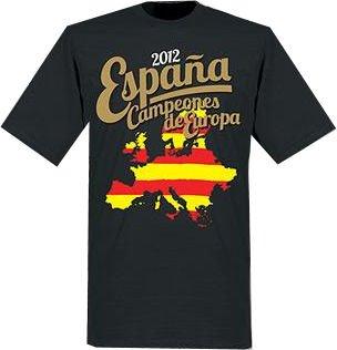 Camiseta España Campeones de Europa (negro), XXL (50-52