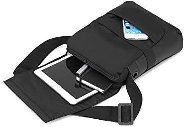 Sac pour Tablette Sac Bandouli/ère Moleskine Sac Reporter avec ID PC et iPad jusqu/'/à 10 Dimensions 23 x 12 x 30 cm Couleur Noir Ordinateur Portable