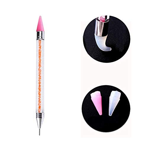 (Renovatio Nails - Dual-Ended Dotting Pen Rhinestone Studs Picker Wax Pencil Crystal Beads Handle Nail Art Tool)
