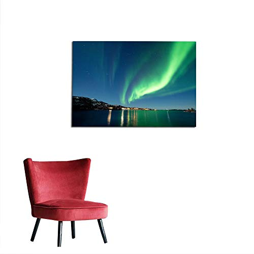 kungfu Decoration Wall Sticker Decals Northern Lights in Senja Norway2 Poster Print W23.6 x L19.7