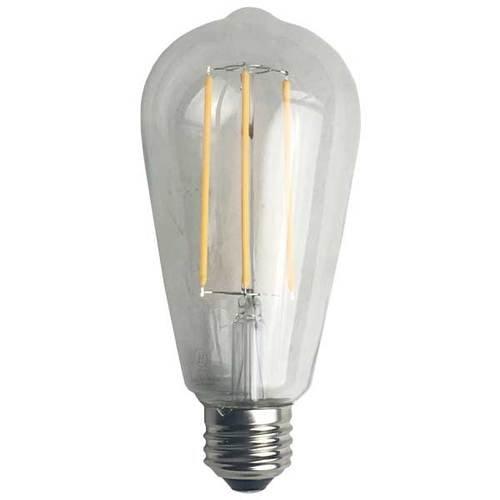 ヴィンテージエジソンスタイルフィラメントLED st19調光機能付きライト電球 B07BR548ZZ