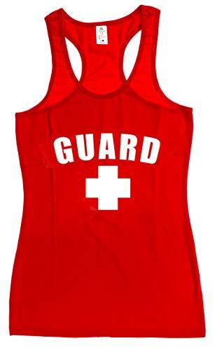 BLARIX Womens Guard Racerback Tank Top (Red, Medium)