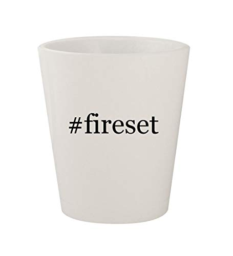 #fireset - Ceramic White Hashtag 1.5oz Shot Glass