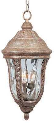 (Maxim Lighting 30210WGET 3 Light Whitter Outdoor Pendant, Earth)