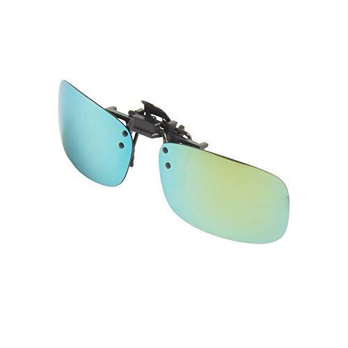 Gafas LSP103 en Sol Lens Driving LianSan Mujeres Aire Libre Mirrored Flip Sunglasses al de Polarizadas verde Clip Up Men Rectángulo Deporte 8xgYH