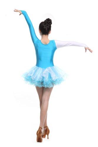 Turnierkleid Cha Reguläres Rumba Weiß cha Tänze Kleid Frauen für Latin Natur Mädchen Lateinamerikanische Colorfulworldstore Samba cha UtWan0n