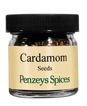 Cardamom #4 Whole Seeds By Penzeys Spices 1.3 oz 1/4 cup jar (Crushed Cardamom Pods)