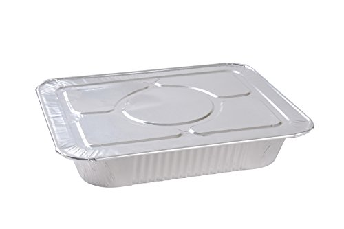 A World of Deals 9 X 13 Half Size Deep Foil Steam Pans with Lids, 30 Pack -