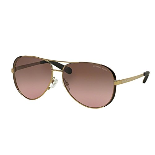 Michael Kors MK5004 Chelsea Sunglasses, Gold/Dark Chocolate (Michael Kors Sun)