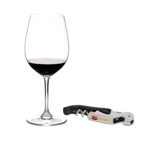 Riedel Sommeliers Leaded Crystal Bordeaux Grand Cru Wine Glass with Bonus BigKitchen Waiter's Corkscrew ()