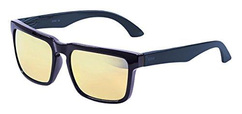 Amarillo brillo de Negro Azul única Color iridium Ocean Talla Gafas Unisex Sol Patilla Bomb Negro Sunglasses marino Blanco revo tw7wa1