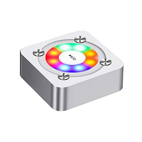 Uonlytech Bluetooth-luidspreker licht kleurrijke draadloze telefoon mini size luidspreker (zilver)