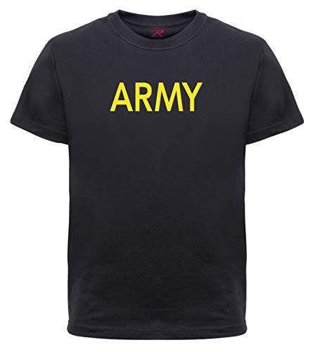 - Rothco Kids Army Physical Training T-Shirt, Black, S