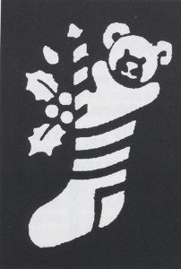 Costumes For All Occasions Fp62 Stencil Stocking Bear Brass by Morris Costumes (Stencil Stocking Bear)