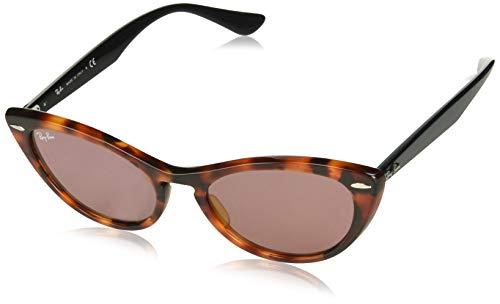 (Ray-Ban Women's RB4314N Nina Cat Eye Sunglasses, Red Tortoise/Violet Photochromic, 54 mm)