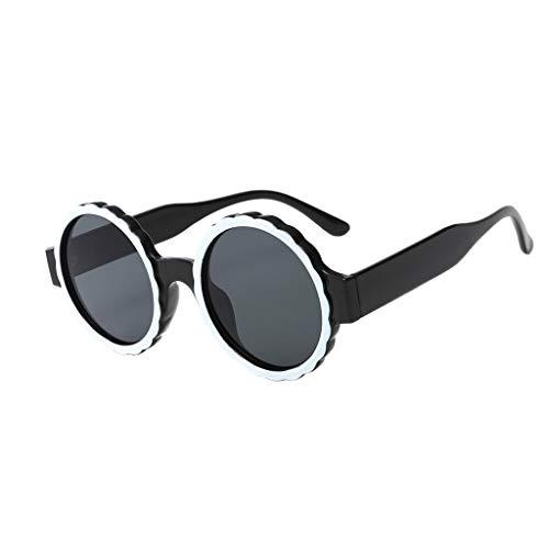 Bush Frame (Hide on Bush Women Round Frame Mask Sunglasses Integrated Gas Glasses UV Protection Sun Glasses Outdoor (Black))