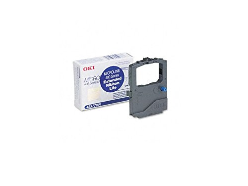 OKI 42377801 Black Ribbon for ML420/421, ML490/491 (Pack of (Okidata Oki Black Ribbon Cartridge)