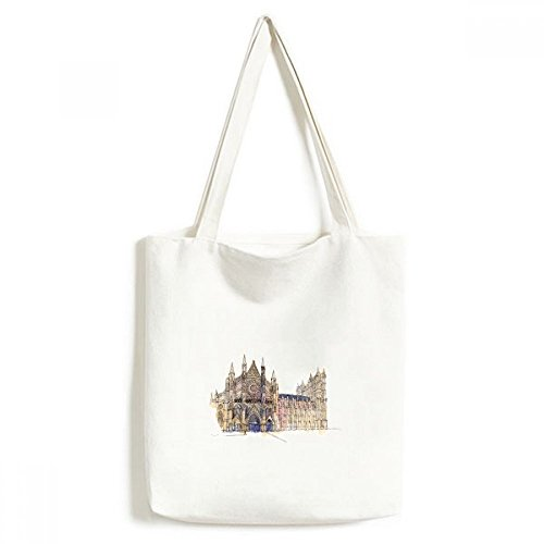 Abbey Messenger - DIYthinker Westminster Abbeyof London Environmentally Washable Shopping Tote Canvas Bag Craft Gift
