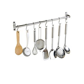 Alicemall Colgador de Toallas Multifuncional Bastidores Colgantes para Accesorios de Cocina y Baño Acero Inoxidable de