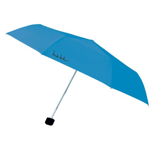 Nicole Miller 38 Inch Ultra Lite Supermini Umbrella with Eyeglass Case, Blue Jay, One Size