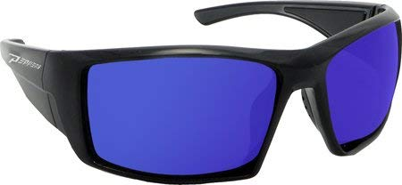 (Peppers Sunglasses - Quiet Storm / Frame: Matte Black Lens: Polarized Brown with Blue Ice Mirror)
