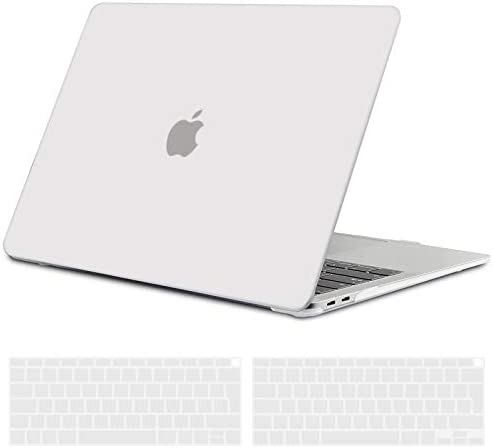 TECOOL MacBook Air 13 inch Case 2020 2019 2018 Model A2337 M1A2179A1932 Hard Shell Beschermhoes Geval Hoes Mouw en EU Toetsenbord Cover voor Apple MacBook Air 133 Touch IDVorst