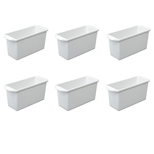 Sterilite 72508006 Ice Cube Bin, White, 6-Pack - Ice Cube Storage