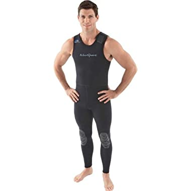 NeoSport Wetsuits Men's Premium Neoprene 3mm John, Black, Large - Diving, Snorkeling & Wakeboarding