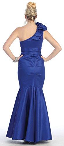 Hochzeit Shoulder festliche für Damen Abendkleider lang Abendmode Meerjungfrau Abi Kleid elegante Mermaid Ballkleider Violett One Abschlusskleid Kleid ZHwnqCdw
