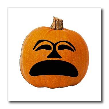 (3dRose Sandy Mertens Halloween Food Designs - Jack o Lantern Unhappy Sad Face Halloween Pumpkin, 3drsmm - 8x8 Iron on Heat Transfer for White Material)
