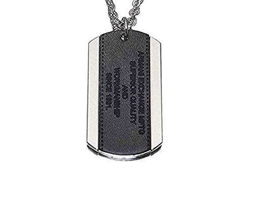 Armani Exchange AIX Logo Patch Dog Tag Necklace