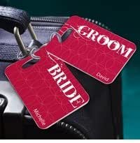 *Hot Seller* Personalized Bride and Groom Luggage Tags