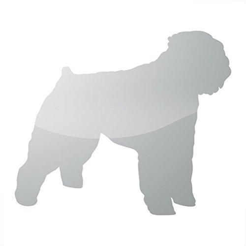 RDW Metallic Bouvier des Flandres Sticker Die Cut Dog Canine - Silver