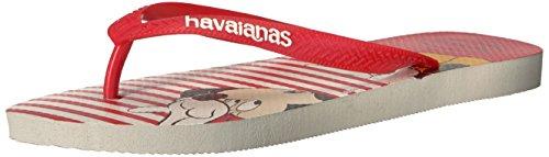 Havaianas Women's Flip Flop Sandals, Minnie Mouse Disney Stylish ,White,39/40 BR (9-10 M US)