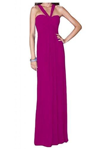 Toscana sposa dall'effetto Empire Chiffon Rueckenfrei stanotte vestimento damigella Party ball extra lungo viola 54