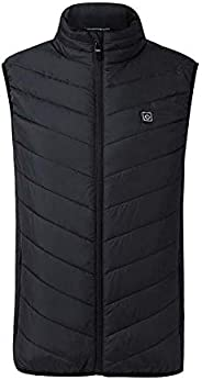 Rarembellish Lightweight Heated Vest, USB Charging Warm Vest for Outdoor Camping Hiking Golf, Washable Heated