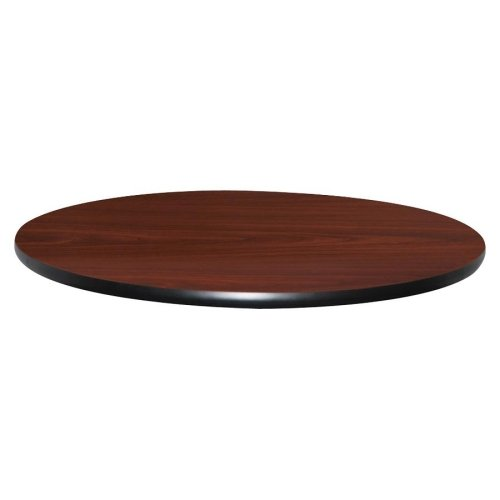 Lorell Hospitality Breakroom Table Top - Round - 42quot; - Vinyl, Particleboard - Mahogany ()