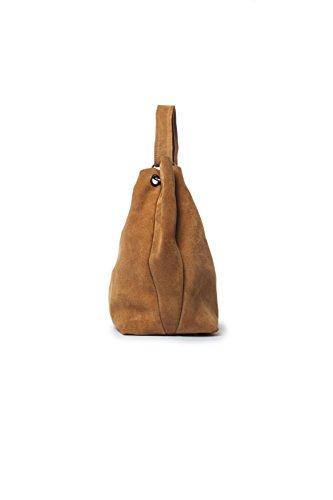 Mujer W Leather Marrón x para Estromboli L Nugat 14x28x40 H Shopper Mamatayoe cm x tzqFCW