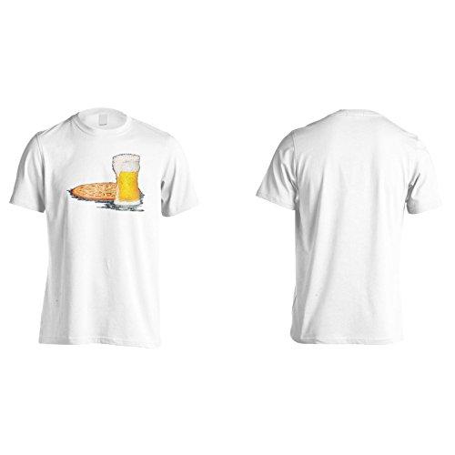 Neue Pizza Bier Chef Essen Herren T-Shirt l527m