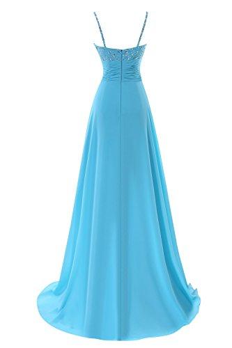 Dresses Bess Prom Chiffon Bridal Straps Women's Long Daffodil Beaded Evening 11wFPqxp